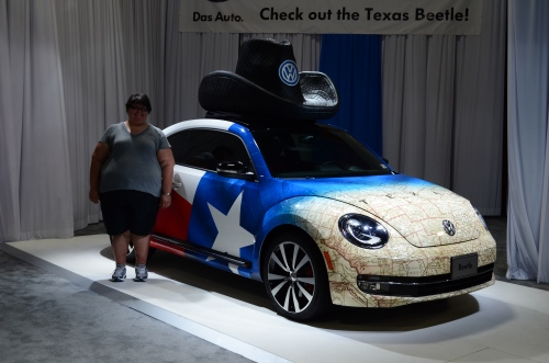 This is me at the auto show at last year's Fair.