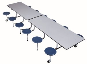 Rectangle-Cafeteria-Table-with-Stools